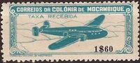 Mozambique 1946 Airplane over Mountainous Region b