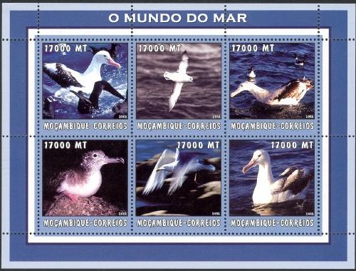 Mozambique 2002 The World of the Sea - Sea Birds 2 h