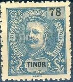 Timor 1903 D. Carlos I - New Values and Colors l