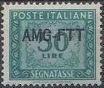 Trieste-Zone A 1950 Postage Due Stamps of Italy 1947-1954 Overprinted d