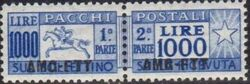 Trieste-Zone A 1954 Parcel Post Stamps of Italy 1946-54 Overprint a