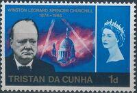 Tristan da Cunha 1966 Churchill Memorial a