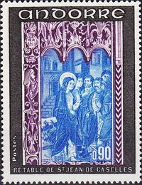 Andorra-French 1971 Frescoes c