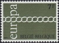 Belgium 1971 Europa b