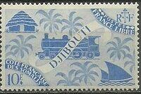 French Somali Coast 1943 Locomotive and Palms m