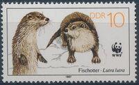 Germany DDR 1987 WWF - European Otter a