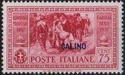 Italy (Aegean Islands)-Calino 1932 50th Anniversary of the Death of Giuseppe Garibaldi f