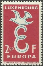 Luxembourg 1958 Europa a