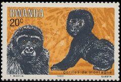 Rwanda 1983 Mountain Gorilla a