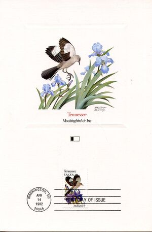 United States of America 1982 State birds and flowers FOLe6