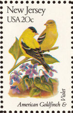 United States of America 1982 State birds and flowers zb