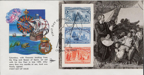 United States of America 1992 Voyages of Columbus FDCs