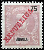 Angola 1911 D. Carlos I Overprinted h