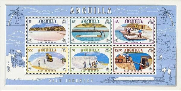 Anguilla 1980 Salt Industry h