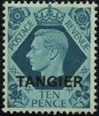 "British Offices in Tangier 1949 King George VI Overprinted ""TANGIER"" j"