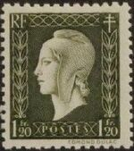 France 1945 Marianne de Dulac (2nd Issue) i