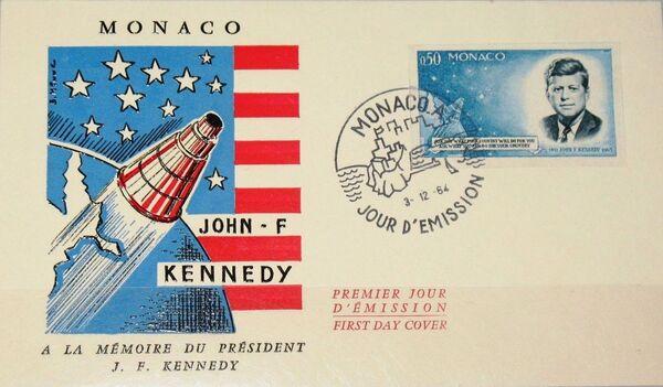 Monaco 1964 Pres. John F. Kennedy and Mercury Capsule d