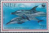 Niue 1993 WWF Dolphins c