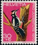 Switzerland 1970 PRO JUVENTUTE - Birds c
