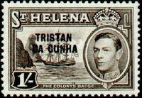 Tristan da Cunha 1952 Stamps of St. Helena Overprinted i