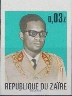 Zaire 1973 President Joseph Desiré Mobutu i