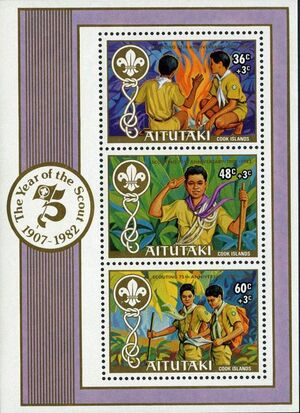 Aitutaki 1983 75th Anniversary of Scouting (Semi-Postal Stamps) SSa