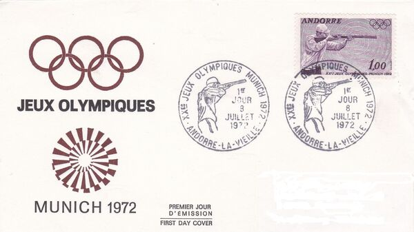 Andorra-French 1972 20th Olympic Games, Munich FDCc