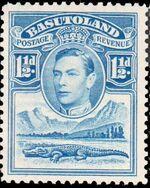 Basutoland 1938 George VI, Crocodile and River Scene c
