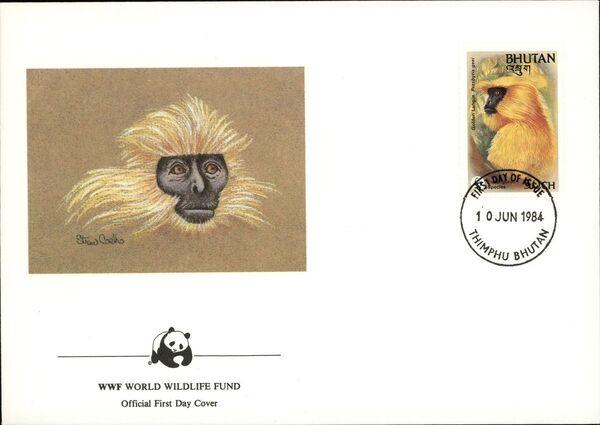 Bhutan 1984 WWF - Golden Langur k