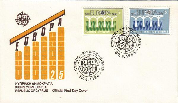 Cyprus 1984 EUROPA - CEPT FDCa