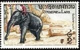 Laos 1958 Elephants d