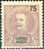 Lourenço Marques 1903 D. Carlos I New Values and Colors e