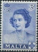 Malta 1950 Visit of Princess Elizabeth b