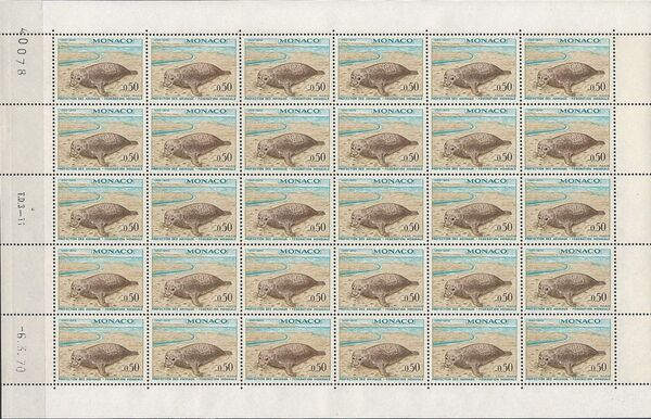 Monaco 1970 20th Anniversary of World Federation for Protection of Animals Sc