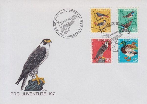 Switzerland 1971 PRO JUVENTUTE - Birds FDCa