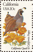 United States of America 1982 State birds and flowers e