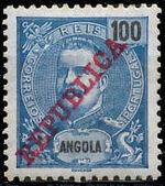 Angola 1911 D. Carlos I Overprinted i