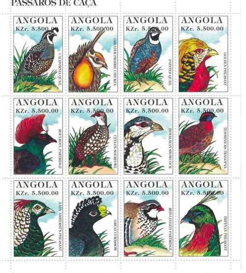 Angola 1996 Hunting Birds Sa
