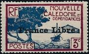 "New Caledonia 1941 Definitives of 1928 Overprinted in black ""France Libre"" c"