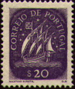 Portugal 1943 Portuguese Caravel (2nd Issue) b
