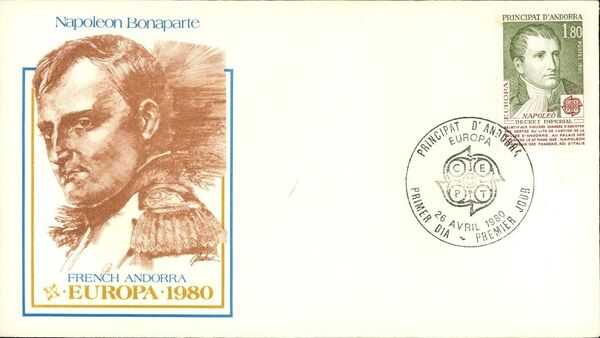 Andorra-French 1980 Europa FDCc