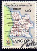 Angola 1955 Map of Angola a