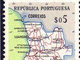 Angola 1955 Map of Angola