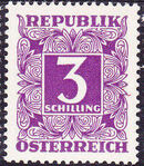 Austria 1951 Postage Due Stamps - Square frame with digit (3rd Group) e