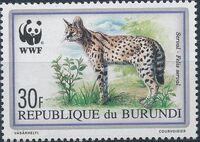 Burundi 1992 WWF Leptailurus serval a