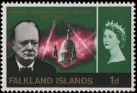 Falkland Islands 1966 Churchill Memorial b