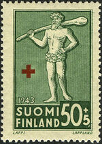 Finland 1943 Coats of Arms - Finnish Red Cross a