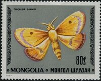 Mongolia 1977 Butterflies and Moths f