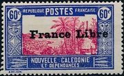 "New Caledonia 1941 Definitives of 1928 Overprinted in black ""France Libre"" p"