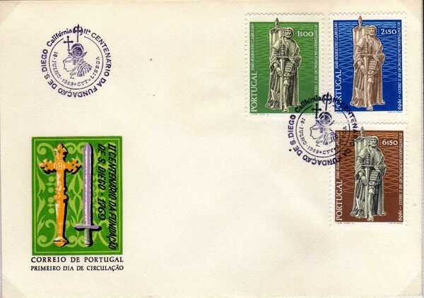 Portugal 1969 200th Anniversary of the City of San Diego California l